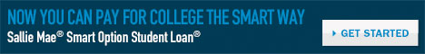Now you can pay for college the Smart Way. Sallie Mae Smart Option Student Loan.